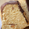 Kleiner Erdnussbutter-Gugelhupf und kleines Schoko-Glasur-Unglück