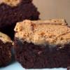 Erdnussbutter-Brownies probieren - oder gute Vorsätze einhalten? Ihr habt die Wahl!