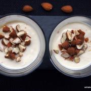 Winter-Dessert: Marzipancreme mit gerösteten Mandeln