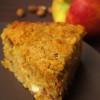 Hallo, Herbst: saftiger Kürbiskuchen mit Apfel, Mandeln und Frischkäsetopping