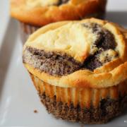 Cremige Cheesecake-Mohn-Muffins